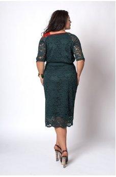Гипюровое платье шоколадного цвета