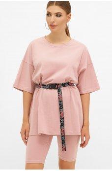 Розовая оригинальная футболка