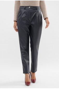 Синие гламурные брюки на флисе