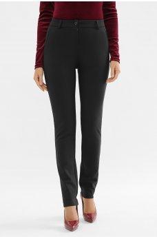 Черные классические брюки с высокой посадкой