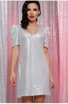 Гламурное привлекательное платье цвета белый хамелеон