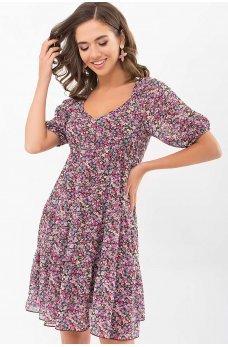 Коричневое легкое повседневное платье мини