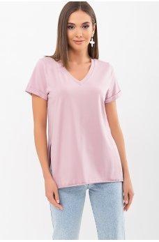 Универсальная комфортная футболка цвета пыльная роза
