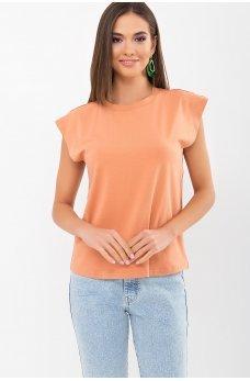 Изящная футболка цвета розовая карамель