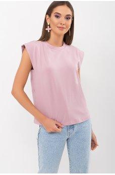 Нежная уютная футболка цвета пыльная роза