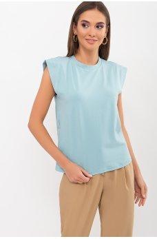 Светло-бирюзовая универсальная футболка