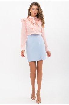 Голубая очаровательная короткая юбка