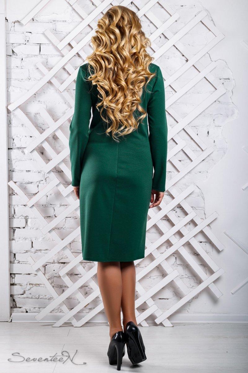 c8e8f1d1b45 Стильное изумрудное платье с перфорацией