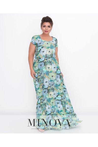 Изысканное длинное платье со штапеля