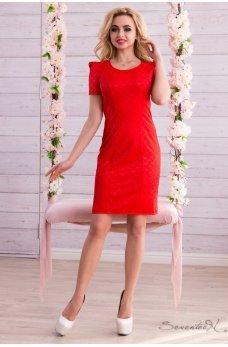 Яскраво червоне плаття футляр