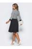 Элегантное черно-белое платье миди - фото 2