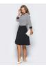 Элегантное черно-белое платье миди - фото 1