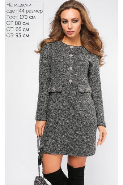 Элегантное и тёплое платье из букле
