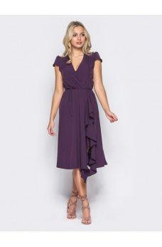 Элегантное платье фиолетового цвета