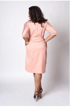Елегантне пудрове плаття