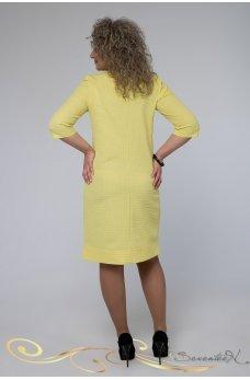 Элегантное желтое платье жаккард