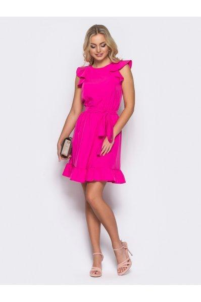 Кокетливое розовое платьице