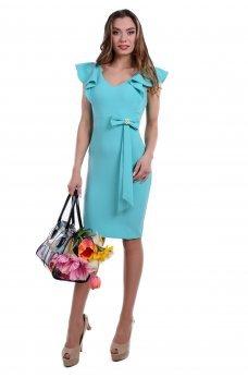 Кокетливое платье мятного цвета