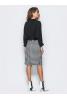 Комбіноване плаття чорно-білого кольору - фото 1