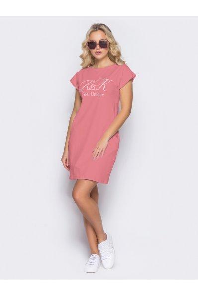 Короткое платье-туника на лето