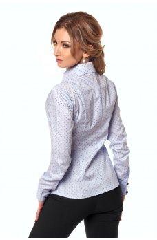 Коттоновая рубашка в мелкую точку