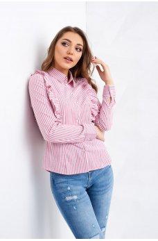Красная блузка в полоску