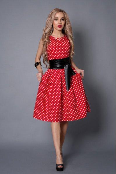 c4a2368926503d Червоне літнє плаття в горошок