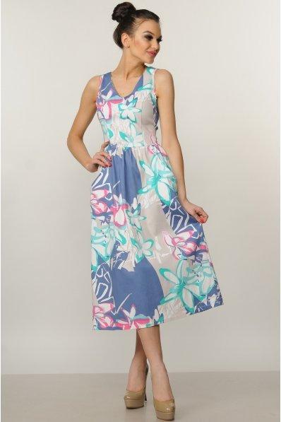 Легкое летнее платье с V-образным вырезом