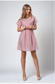 Літнє плаття в червону смужку
