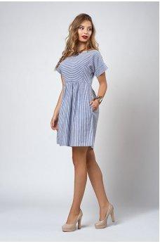 Літнє плаття в синю смужку