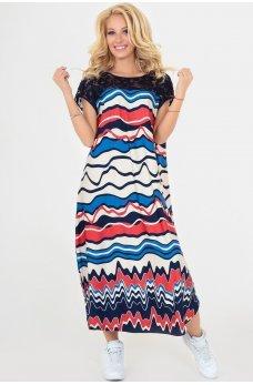 Летнее платье оверсайз с абстрактным принтом