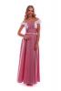 Длинное летнее платье в клеточку красное - фото 3