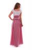 Длинное летнее платье в клеточку красное - фото 1