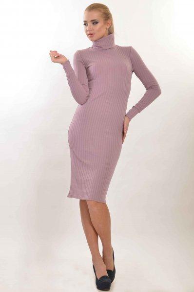 Лиловое платье чулок
