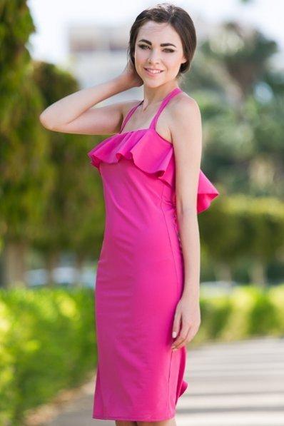 Платье малиновое летнее