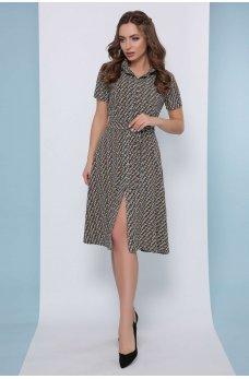 Нежное платье рубашка с мелким принтом Фенди