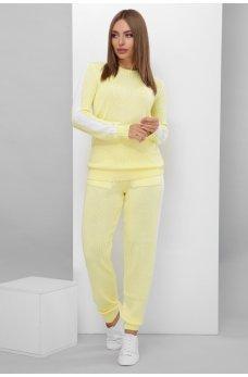 Лимонный ярко-нежный вязанный костюм