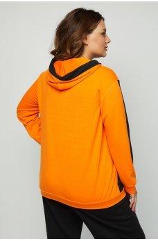 Оранжевая комфортная универсальная толстовка