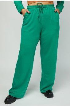 Зеленые трикотажные спортивные брюки