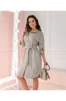 Платье рубашка коричневого цвета