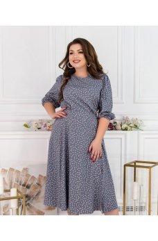 Женственное платье большого размера серого цвета