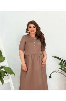 Летнее женственное платье цвета мокко