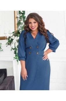 Привлекательное платье джинсового цвета