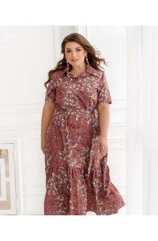 Пудровое обворожительное оригинальное платье