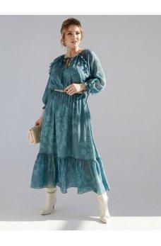 Элегантное шифоновое платье миди батал