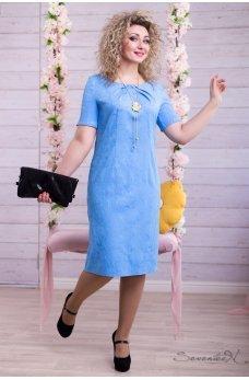 Нарядное небесно голубое платье
