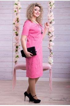 Нарядное нежно розовое платье