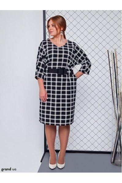 Нарядное платье черная клетка