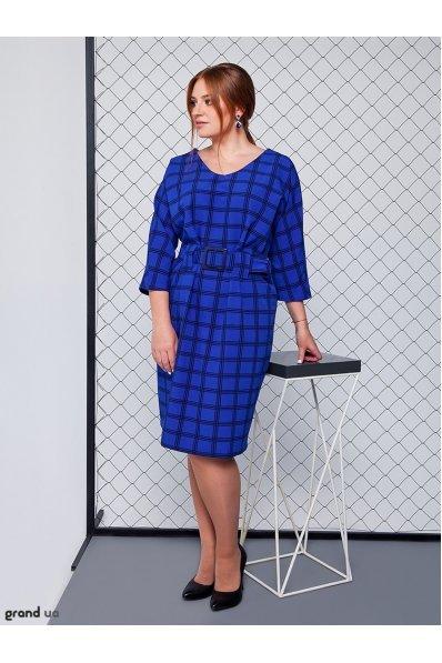 Нарядное платье синяя клетка