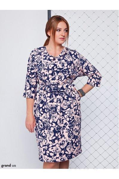 Нарядное платье сиреневые цветы
